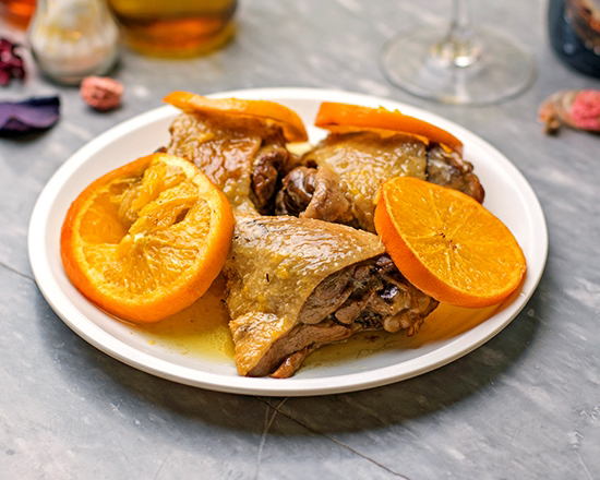 Picture of Roasted duck with oranges