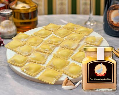 Picture of Goose ravioli with foie gras cream