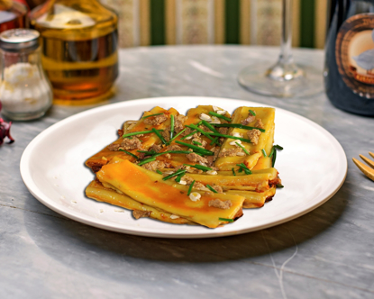 Picture of Goose cannelloni with foie gras sauce